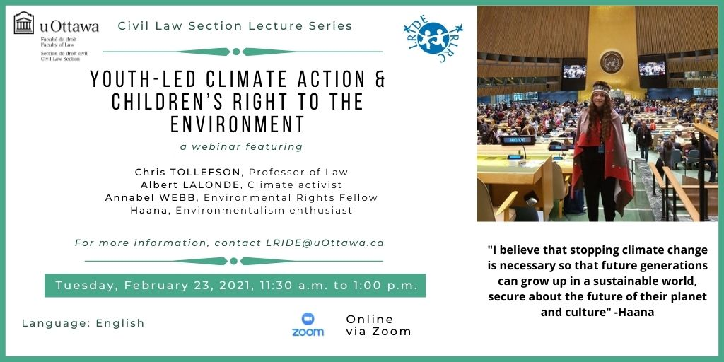 Webinar on Children's Rights to the Environment
