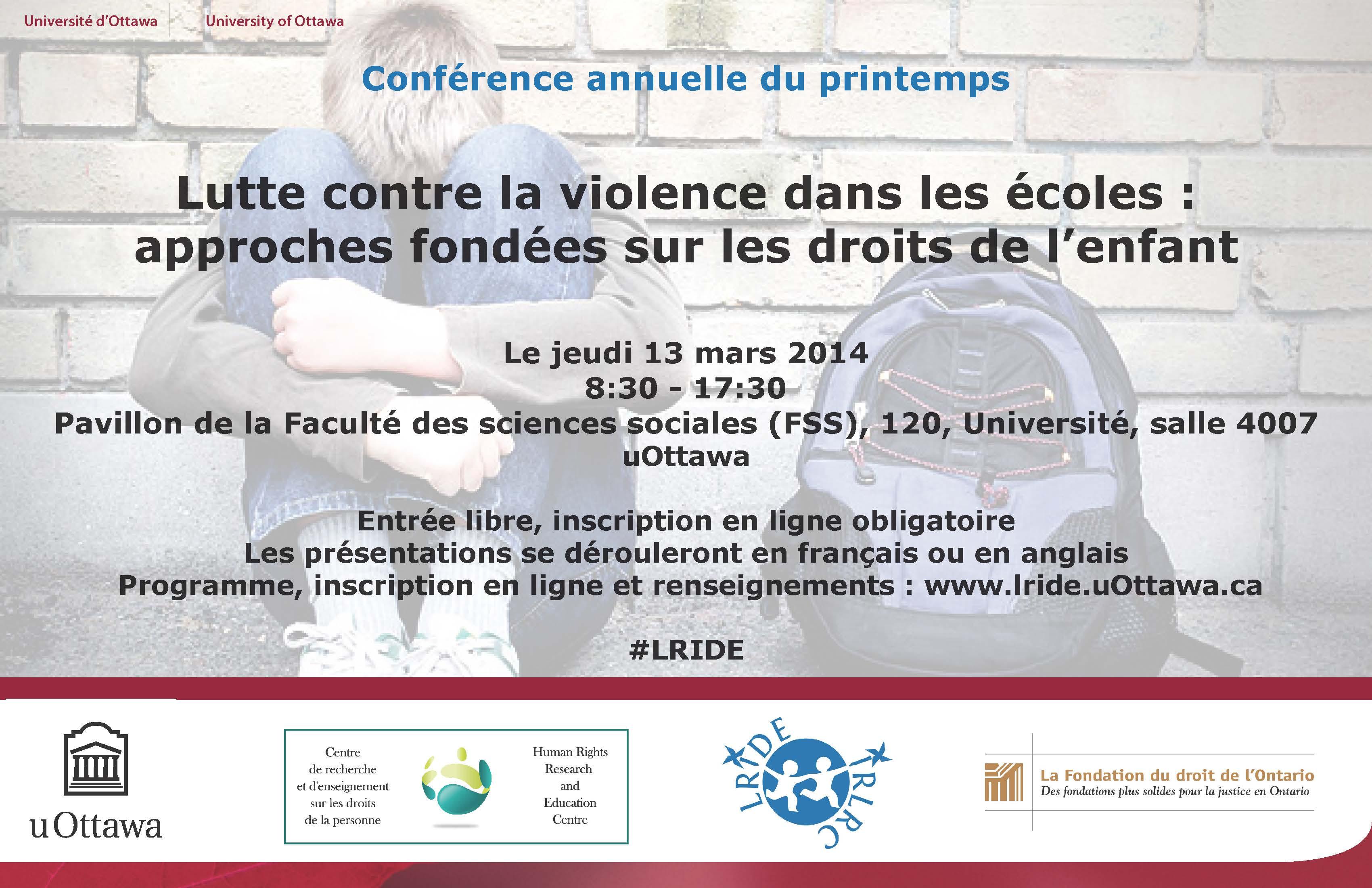 Affiche de la conférence 2014