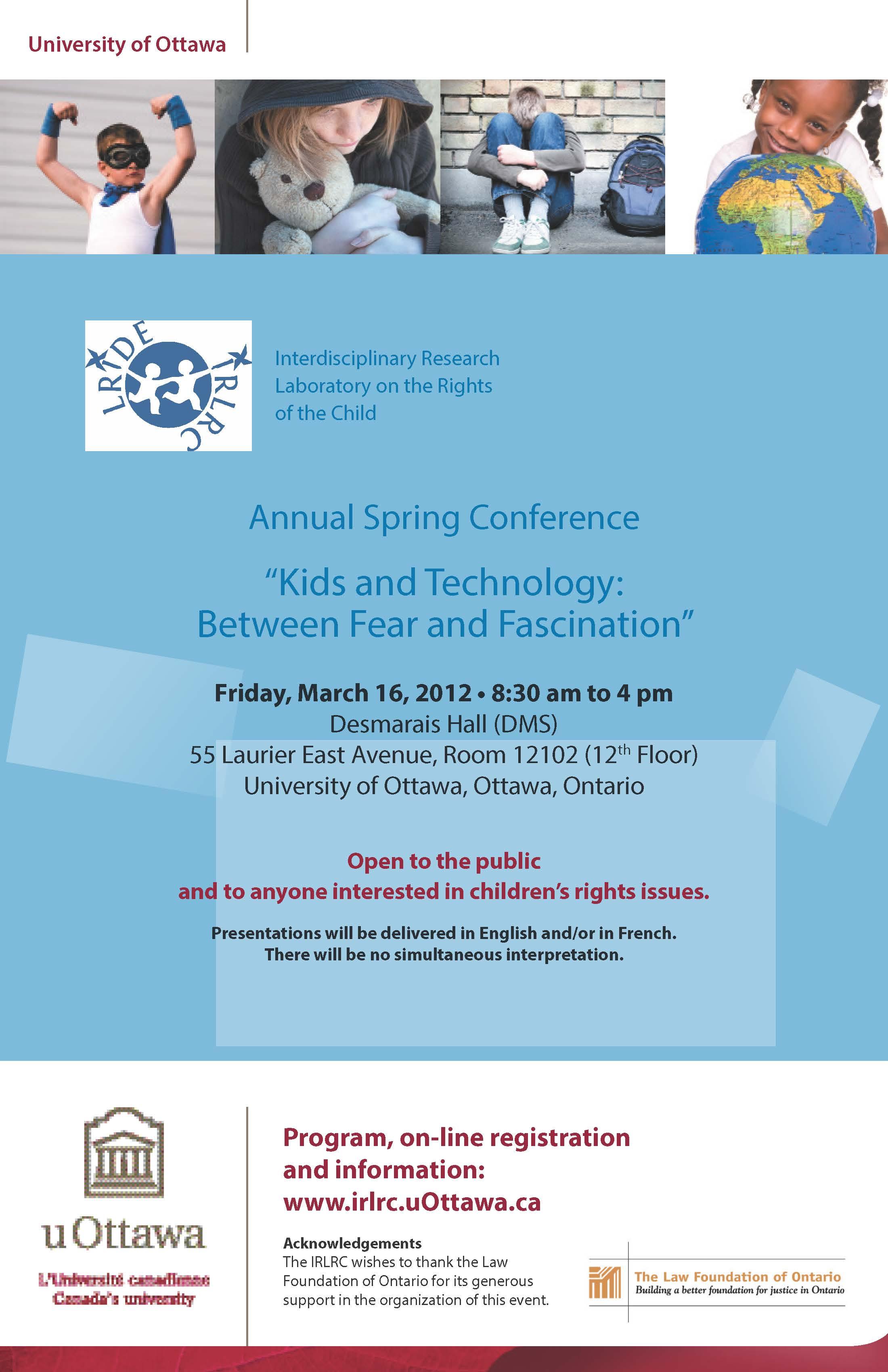 Affiche de la conférence de 2012