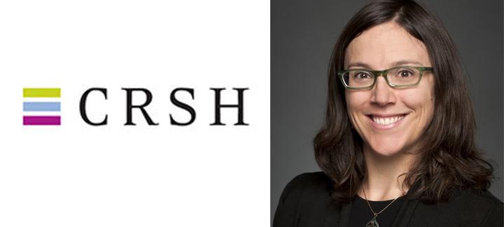 Collage de deux images: le logo du CRSH et la photo de la professeure Sophie Thériault.