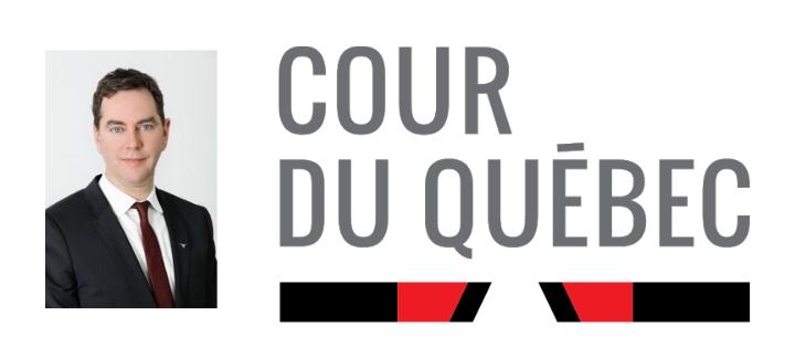 Me Louis Riverin, logo Cour du Québec