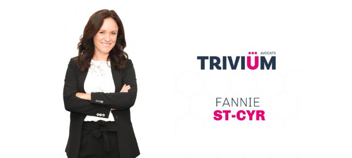 Fanny St-Cyr et logo du cabinet Trivium