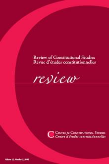 revue detudes constitutionelles