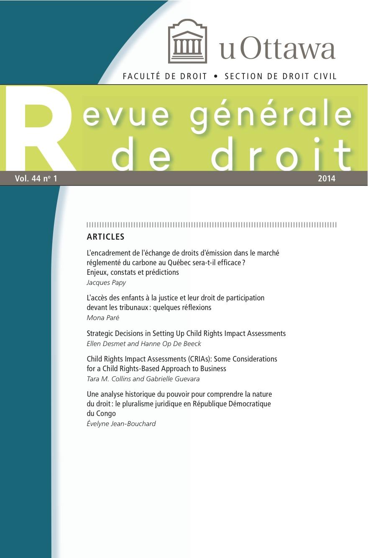 revue generale de droit