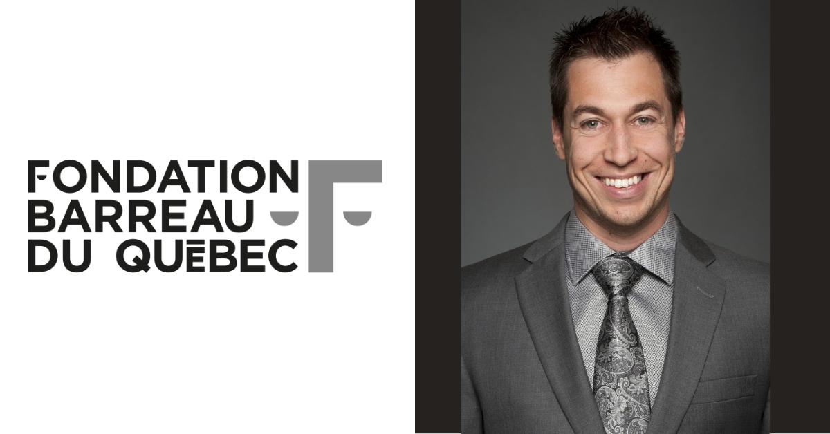 Logo de la Fondation du Barreau du Québec et Vincent Caron