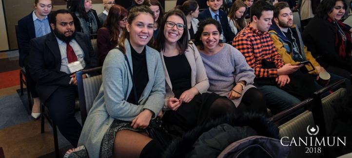 Mollie, Camille et Sandra à la cérémonie de clôture
