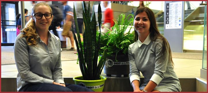 Frédérique Grenier et Marie-Pierre Boudreau,présidente et vice-présidente du Club du droit de la Terre
