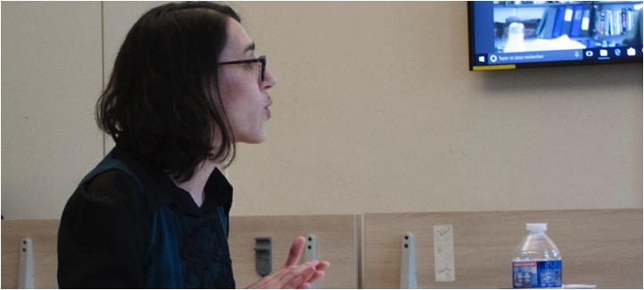 Pascale Cornut St-PIerre pendant sa soutenance à Science Po