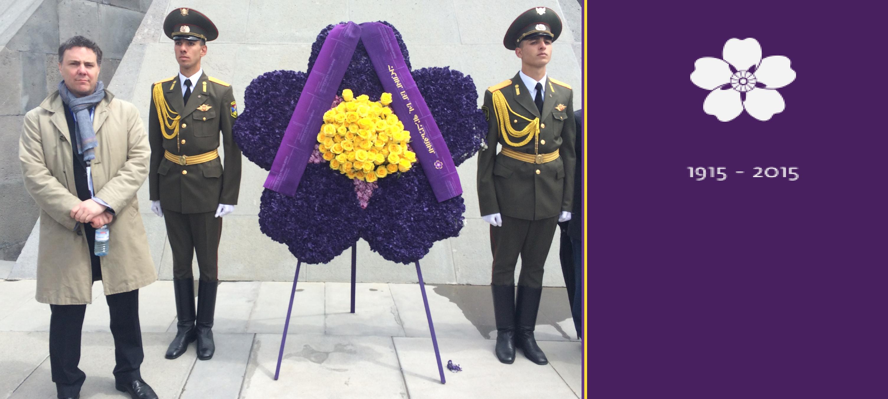 Patrick Dumberry au mémorial du génocide arménien