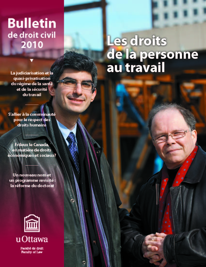 Le magazine annuel de la Section de droit civil (2010)