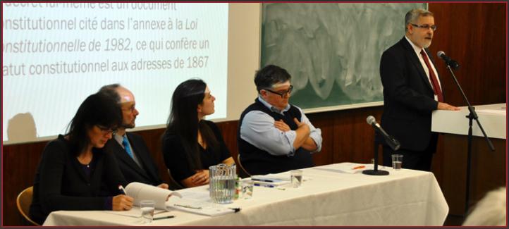 Linda Cardinal, Sébastien Grammond, Christine Ruest-Norrena, François Laroque et Pierre Foucher