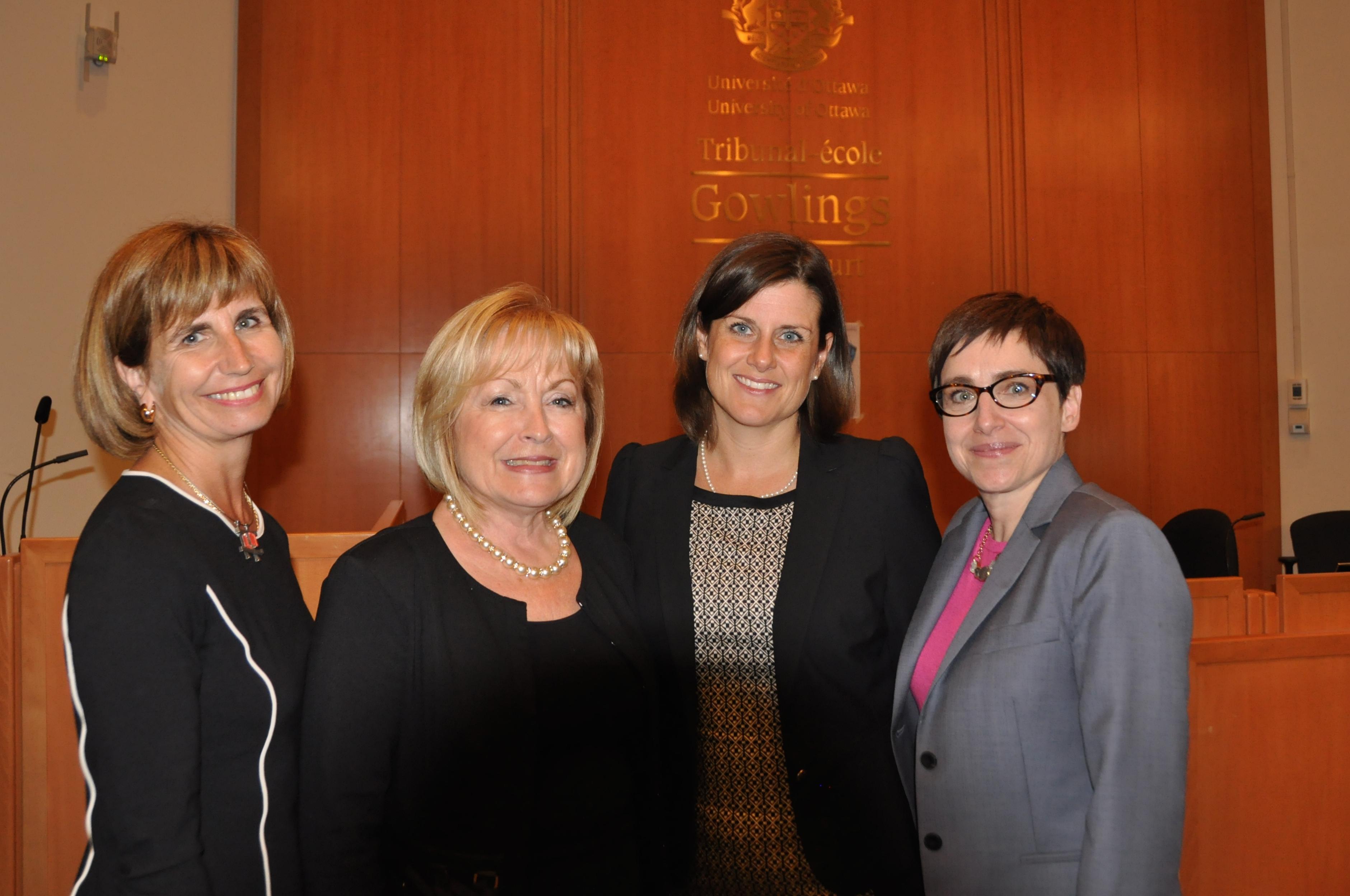 Nathalie Des Rosiers, Madeleine Meilleur, Stéphanie Vallée, Céline Lévesque