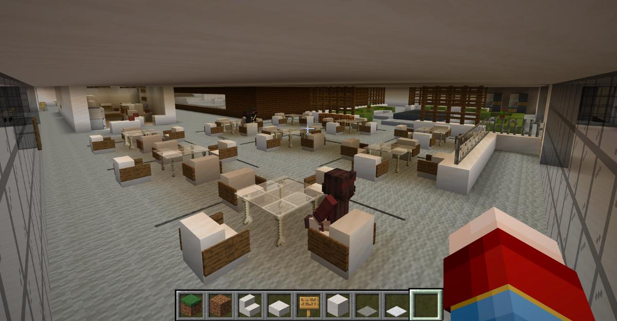 L'intérieur du pavillon Fauteux
