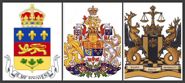 Armoiries de la Cour Supérieure du Québec, de la Cour fédérale et de la Cour d'appel fédérale