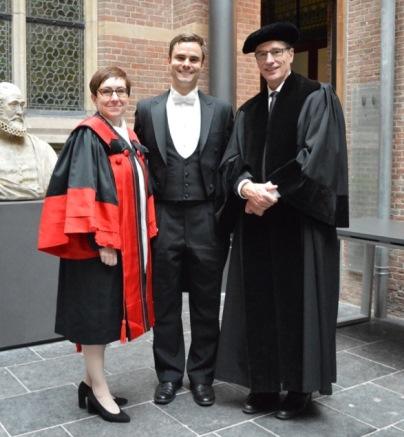 Dean Céline Lévesque of the Civil Law Section, Alexandre Genest, and Professor Tony VanDuzer of the Common Law Section