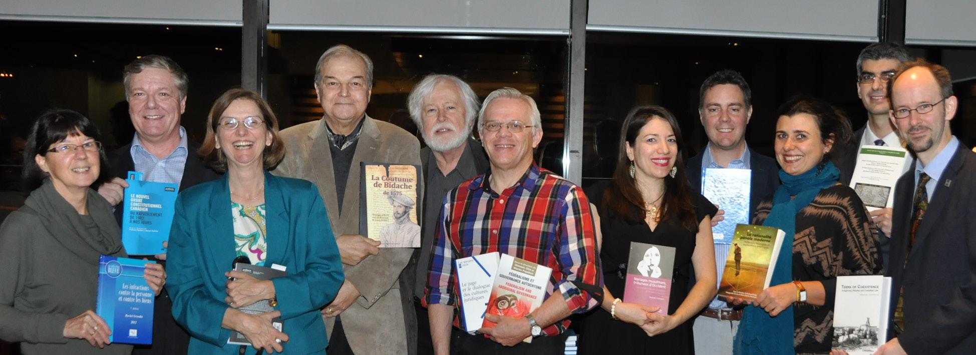 Photo des professeurs de la Section de droit civil qui ont lancé leurs livres le 19 novembre dernier