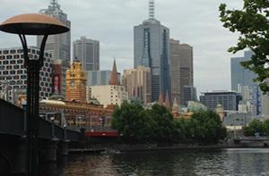 Une vue de Melbourne