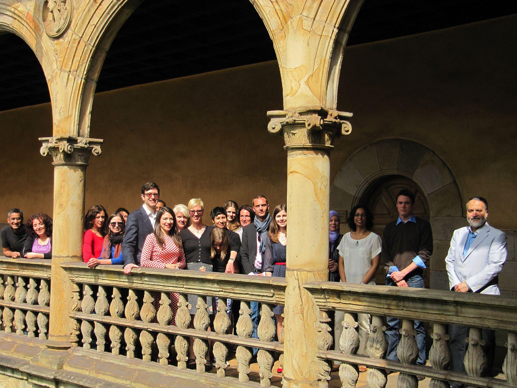 Pascale Fournier et l'équipe d'Onati en 2012. Photo prise à l'Institut sur la sociologie du droit à Onati (Espagne).