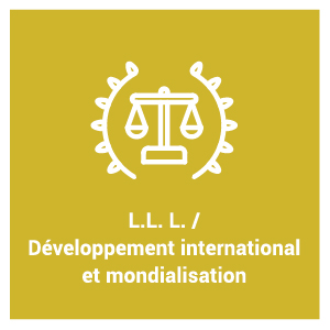 pictogramme du programme d'étude L.L. L. / Développement international et mondialisation
