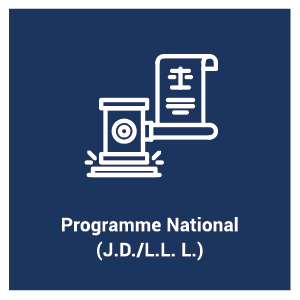 Programme d'étude Programme National (J.D./L.L. L.)