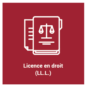 pictogramme pour le programme d'étude Licence en droit (LL.L.)