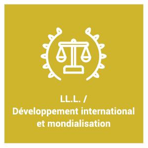 pictogramme du programme d'étude LL.L. / Développement international et mondialisation