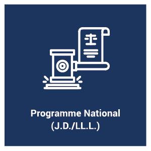 pictogramme pour le programme d'étude Programme national (J.D./LL.L.)