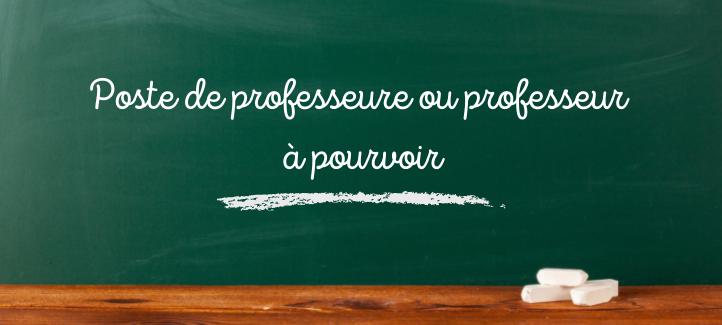 Embauche professeurs ou professeur