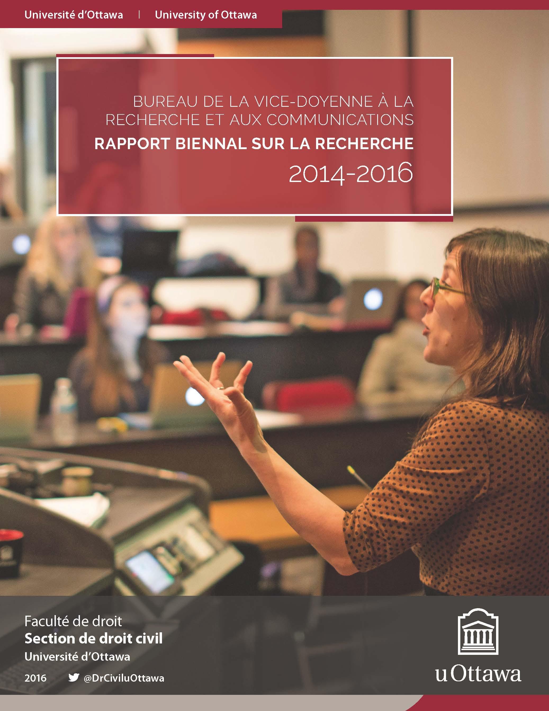 Rapport biennal sur la recherche, 2014-2016
