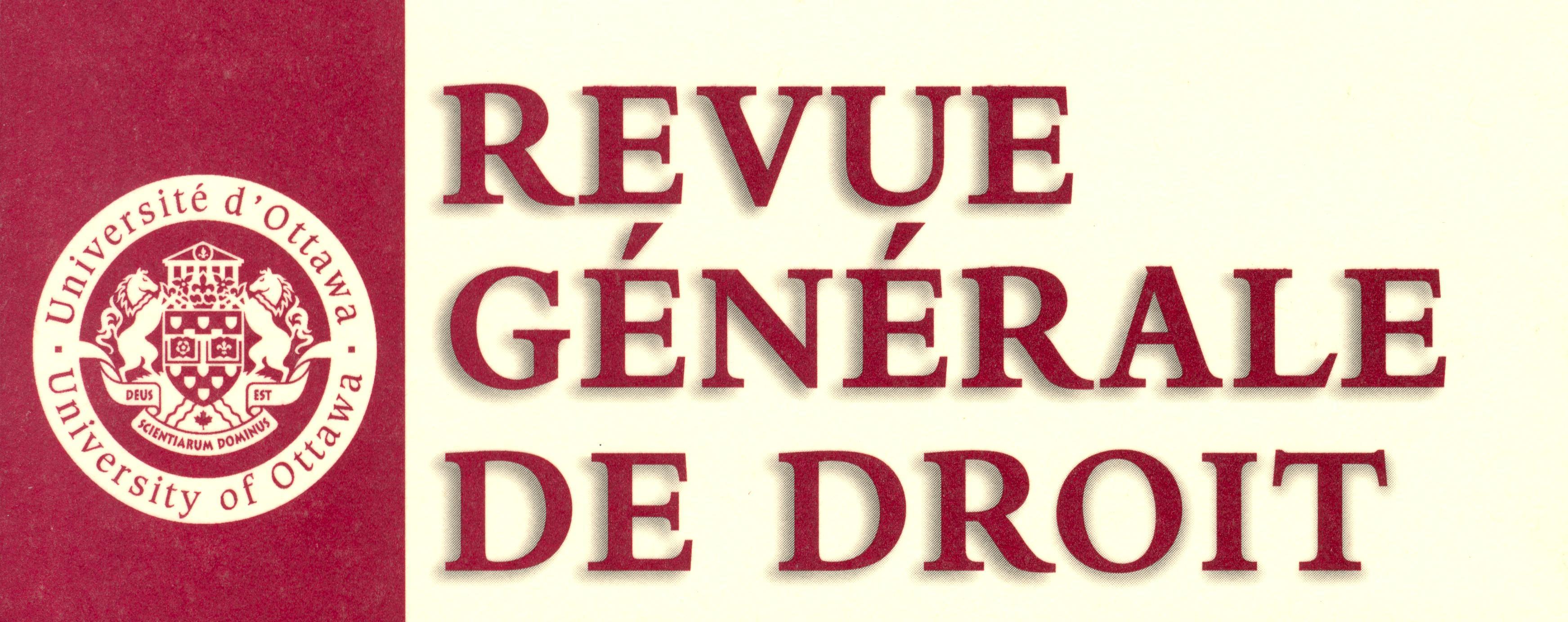 Logo de la Revue générale de droit