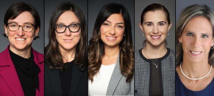 Marie-Eve Sylvestre, Sophie Thériault, Reine Chaar, Renata Uresti and Jennifer Quaid