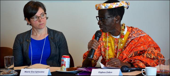 Digbeu Zobre, chef des terres de Soubré (Côte-d'Ivoire)